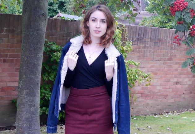 Blogger in Denim Jacket