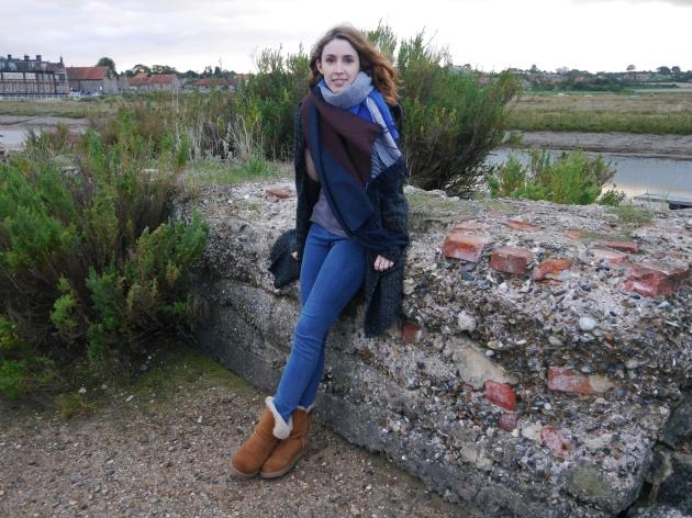 Blogger on Blakeney Quay