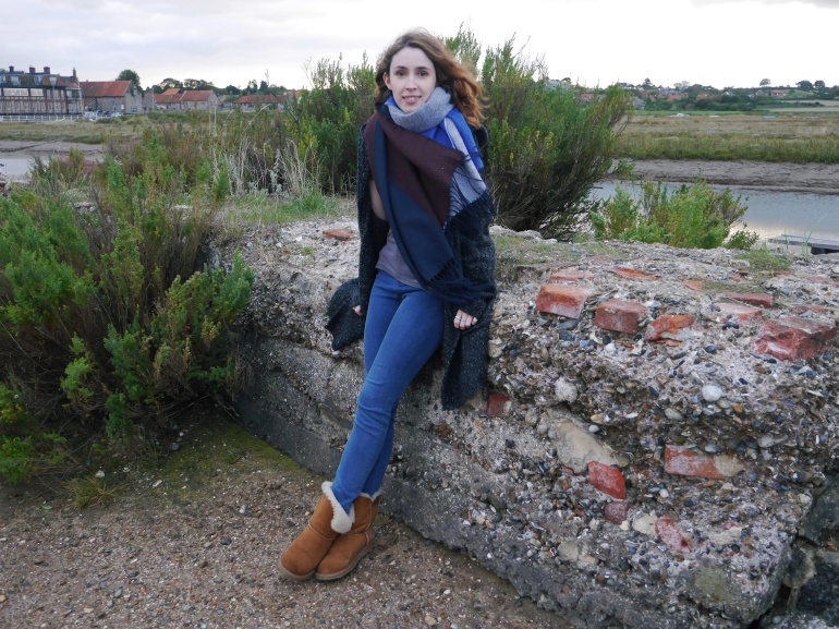 Blogger on Blakeney Quay