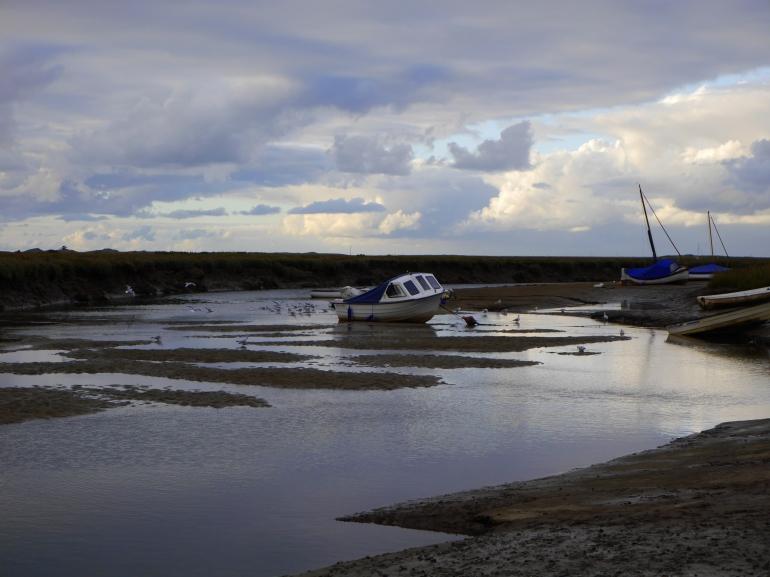 Boat in Blakeney Quay