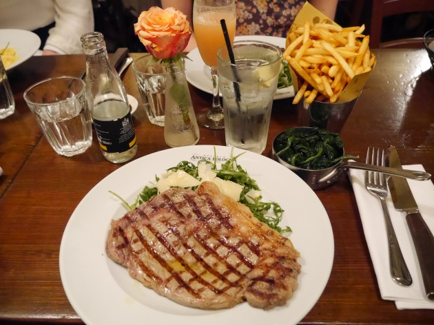 Steak and Sides at Antica Bologna Clapham