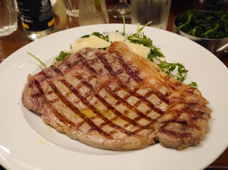 Sirloin Steak at Antica Bologna