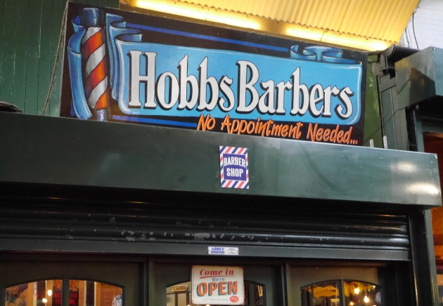 Hobbs Barbers Sign