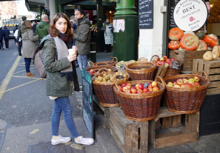 Blogger at Borough Market