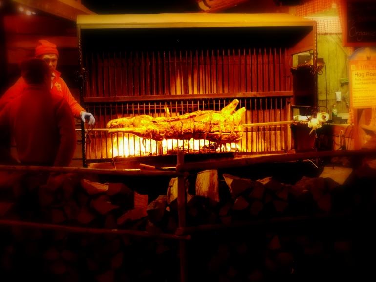 Hog Roast at Winter Wonderland