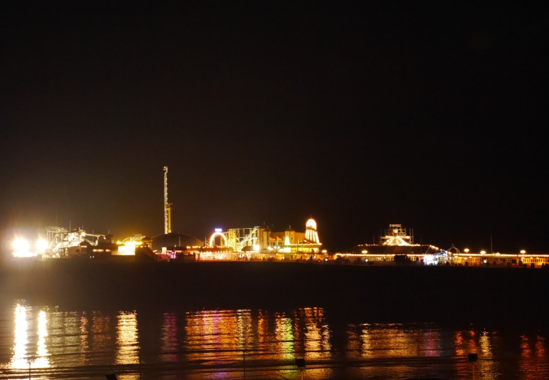 Brighton Pier Lit Up