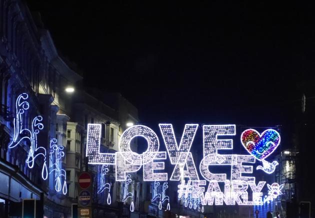 Brighton High Street at Christmas