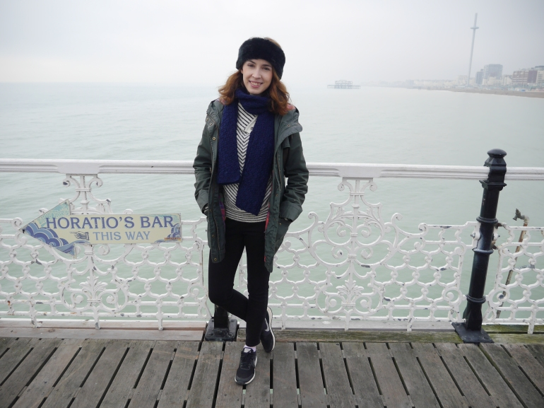 Blogger on Brighton Pier