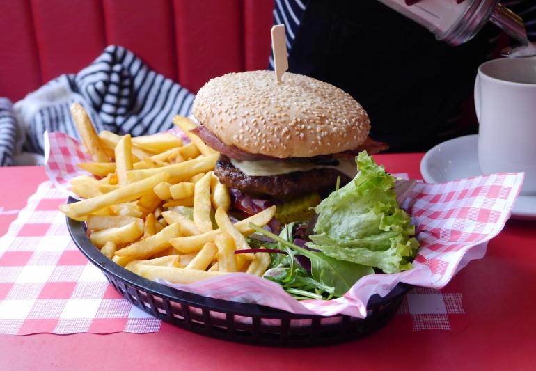 Burger at JB's Diner