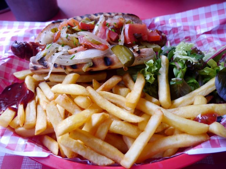 Hot Dog at JBs Diner