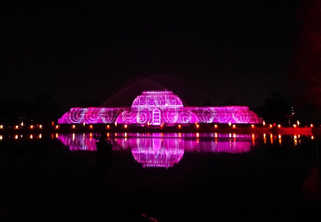 Christmas at Kew Pink Glasshouse