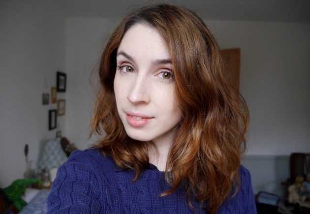 Blogger with Short Auburn Hair