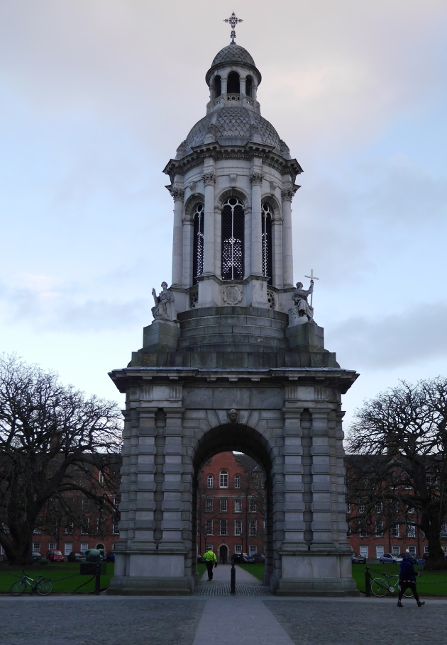 Trinity College at Sunset