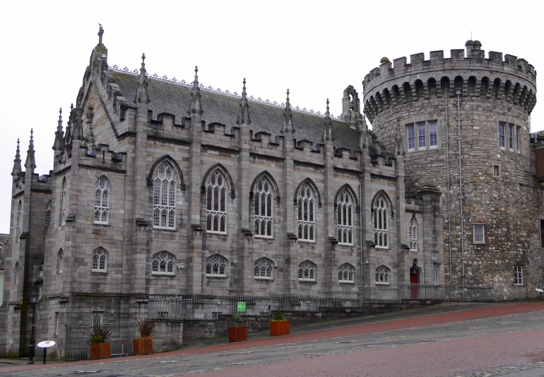 Dublin Castle in January