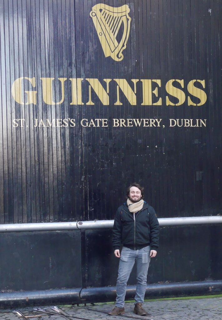 Bloggers Boyfriend at Guinness tour