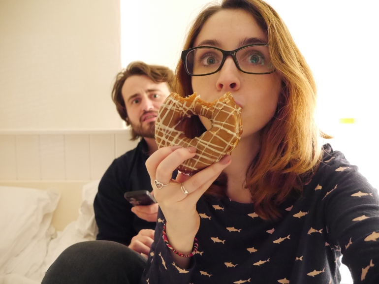 Blogger with Doughnuts