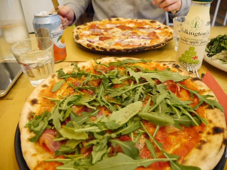 Pizzas at Ruben's Bakehouse