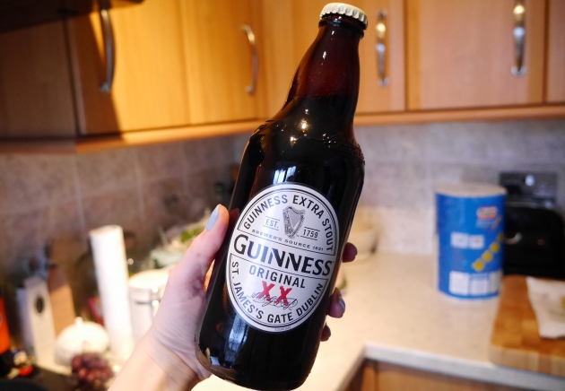 Blogger with Guinness