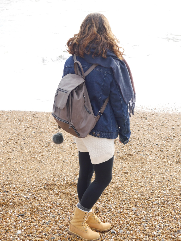 Blogger on Brighton Beach