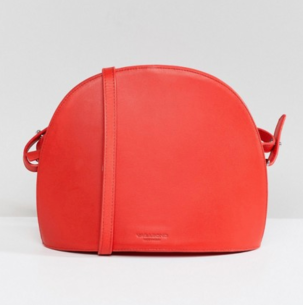 Vagabond Shannon Red Leather Crescent Cross Body Bag