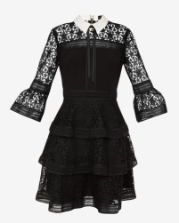 Star lace ruffle dress Ted Baker