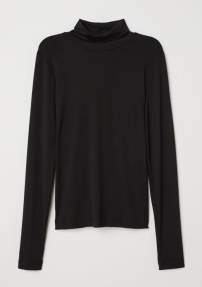 H&M Jersey polo-neck top