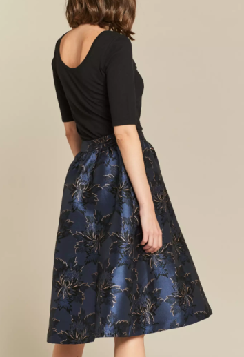 Fat Face Damask Jacquard Skirt
