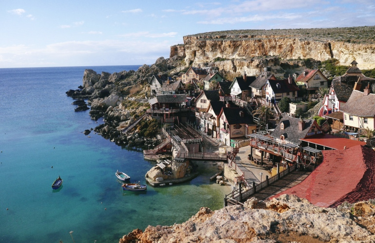 Popeye Village Malta in January