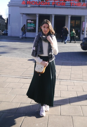 Styling a maxi skirt in Winter